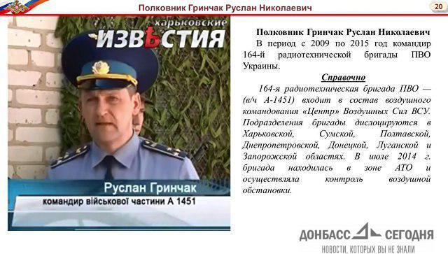 Фраза украинского полковника прямо указывает на причастность ВСУ к сбитому «Боингу»