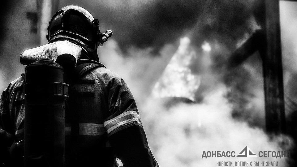 В Донецке загорелась шахта