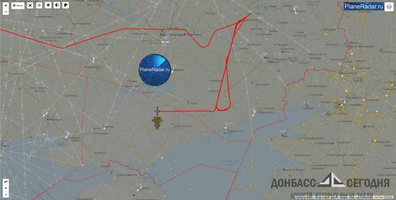 ВВС США провели разведку над Донбассом
