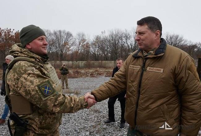 Президент Латвии приехал в Донбасс