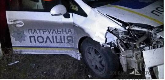 Украинские полицейские разбились на авто в Северодонецке