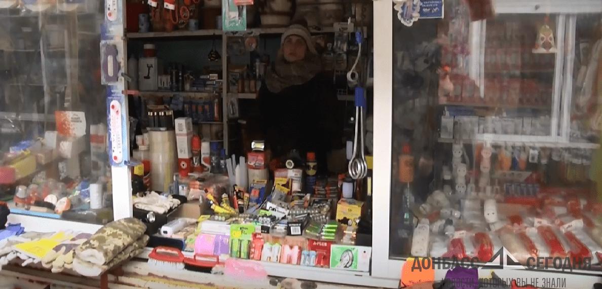 Один из краматорских рынков погрузился в кромешную тьму