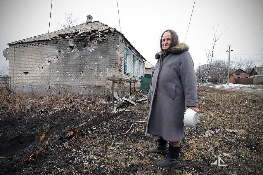 «Она лежала в луже застывшей крови, с булкой хлеба в руках» - Дебальцево-2015