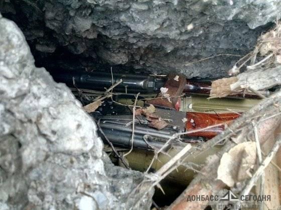 В ЛНР нашли огромный тайник со взрывчаткой