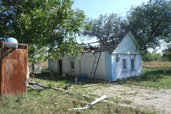 ВСУ расстреляли дома на юге для ликвидации КПВВ «Гнутово»