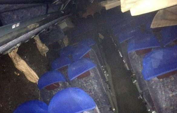 Под Авдеевкой перевернулся автобус, есть пострадавшие