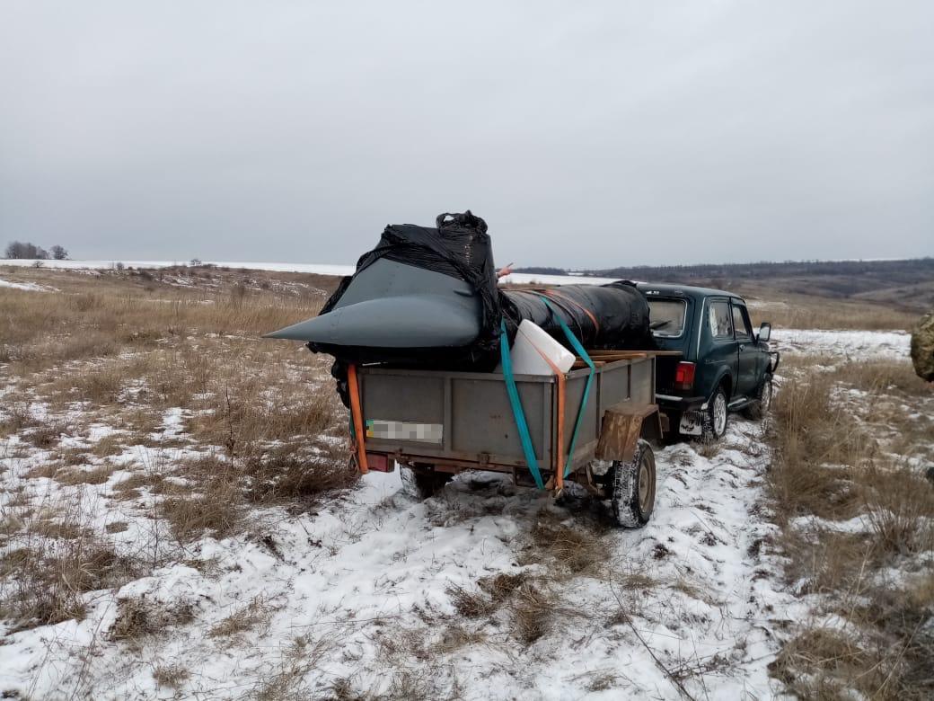 В Луганской области неизвестные пытались провезти через границу боевой вертолёт