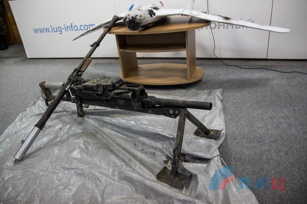 В Луганске продемонстрировали трофеи после боя с украинскими диверсантами