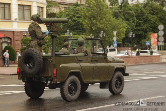 Легендарная «Катюша» и «Град» — в Донецке прошла генеральная репетиция Парада Победы