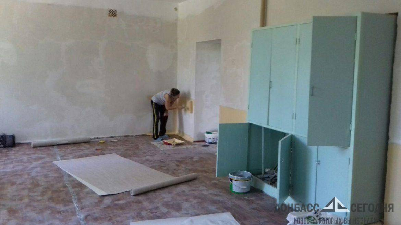 В прифронтовой зоне Донецка откроют разрушенный ВСУ детский сад