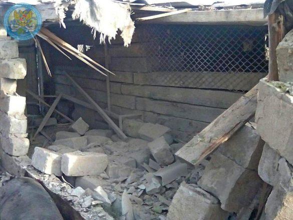 В ЛНР показали последствия обстрела Донецкого