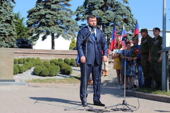 Пушилин на открытии памятника легендарному комбату пообещал победить ради памяти Гиви