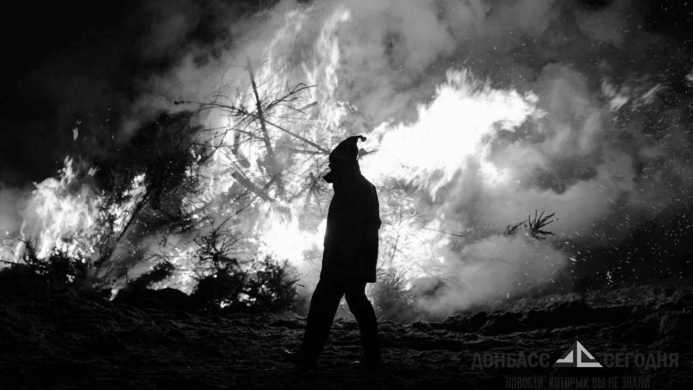 Сотрудник МЧС пострадал при борьбе с огнём в Горловке