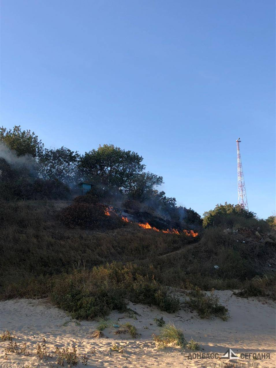 пожар мариуполь телевышка