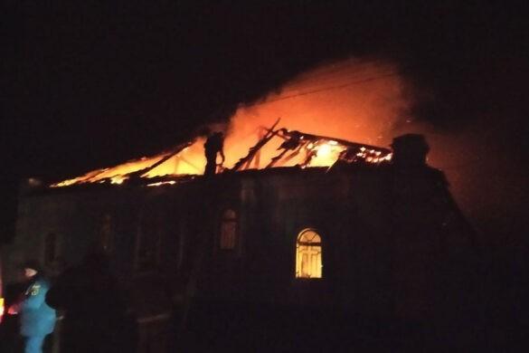 В Горловке горел храм