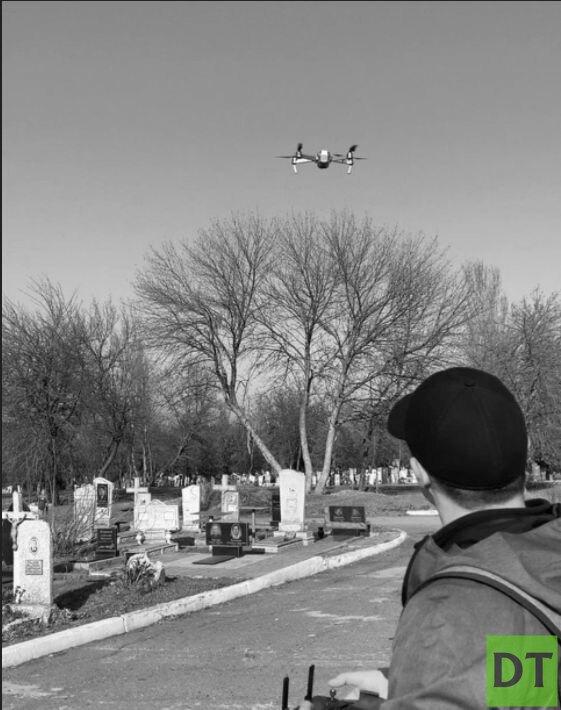 Мариупольские кладбища оцифруют с помощью дронов