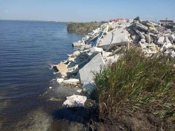 Заповедник в Донбассе забросали строительным мусором