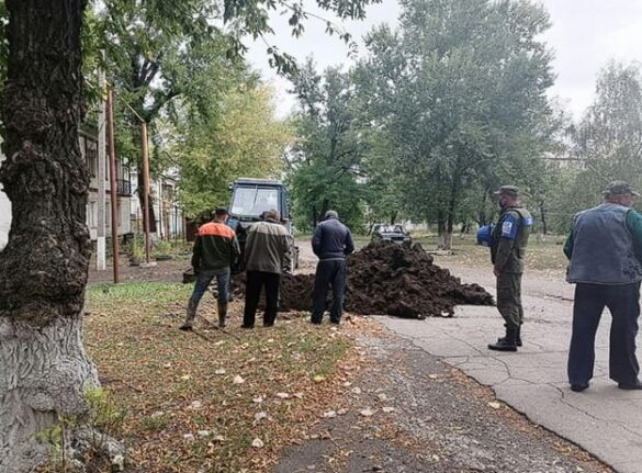 Под охраной СЦКК отремонтировали воду для посёлка на передовой
